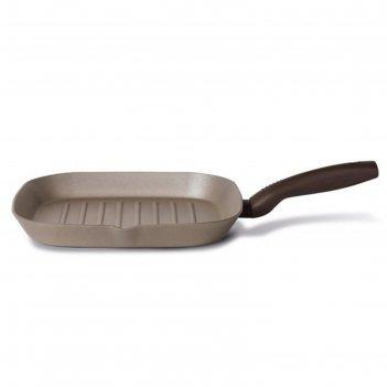 Сковорода-гриль tvs gustosa, 28 см, шампань