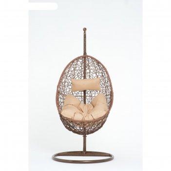 Подвесное кресло, цвет коричневый, в наборе подушка,  44-004-04