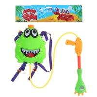 Водный пистолет лягушонок, ранец-балон, с эксклюзивными наклейками