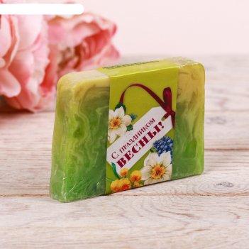 Косметическое мыло лепестки лайма и лимона  с праздником весны