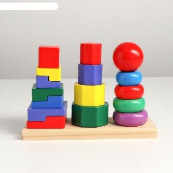 Набор развивающих пирамидок трио 19,8х6,4х13,6 см