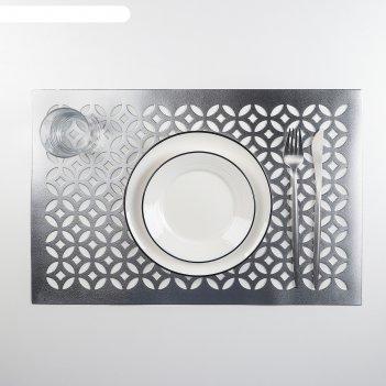 Салфетка кухонная 45х30 смтина цвет серебряный