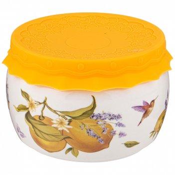 Банка с силиконовой крышкой прованс лимоны 500мл (кор=24шт.)