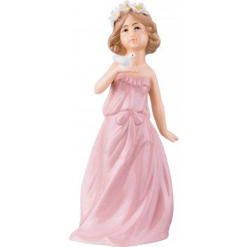 Фигурка дева в розовом 10*7,5*21 см. (кор=24шт.)