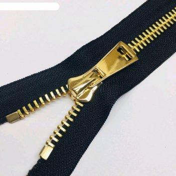 Молния для одежды, №8тт, неразъёмная, 18 см, цвет чёрный