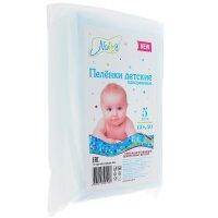 Пеленки детские впитывающие 60 х 40 см, в упаковке 5 шт