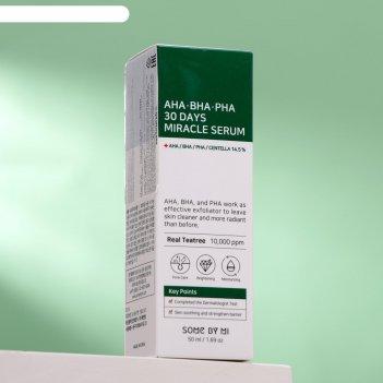 Сыворотка для лица some by mi, с aha/bha/pha кислотами, для проблемной кож