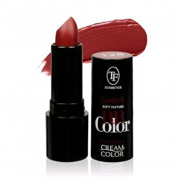 Помада для губ tf bb color lipstick кремовая, тон 128 марсала