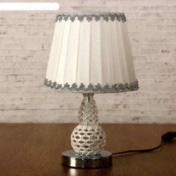 Лампа настольная софия е27 40вт 220в низ с подсветкой 35х21х21 см