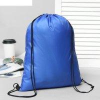 Рюкзак-мешок текстильный для обуви, шнурок, с усиленными уголками, цвет си