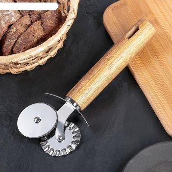 Нож для пиццы и теста двойной 19 см дорадо, ручка из бразильской гевеи