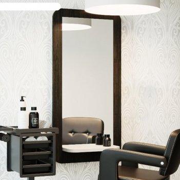 Зеркало парикмахерское, sensus, цвет морское дерево карбон + белый глянец