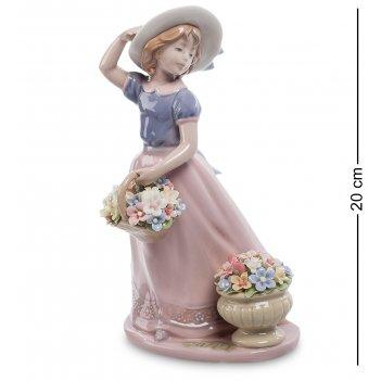 Cms-20/26 статуэтка девушка с цветами (pavone)