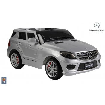 Rt ml63 электромобиль mercedes-bens amg 12v r/c silver с резиновыми колеса