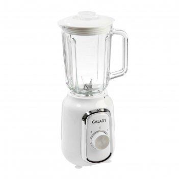 Блендер galaxy gl 2158, 550 вт, стационарный, чаша 1.5 л, кофемолка, белый