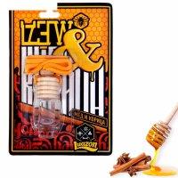 Ароматизатор подвесной в бутыльке корица и мед, 9 х 13 см