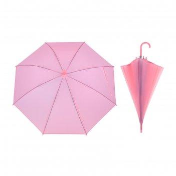 Зонт детский полуавтоматический однотонный, r=41см, цвет розовый