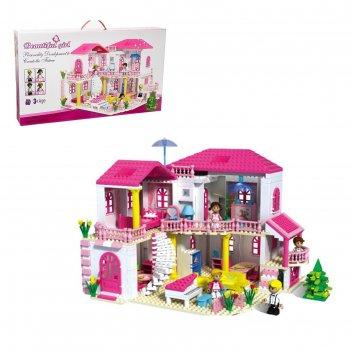 Конструктор для девочек загородный дом, 800 деталей