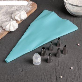 Мешок кондитерский 6 насадок 1,7х3,5 см