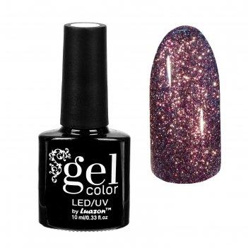 Гель-лак для ногтей сверкающая платина, трёхфазный led/uv, 10мл, цвет 012