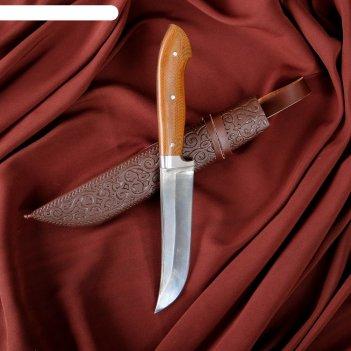 Нож пчак шархон - текстолит, клинок заточка от середины шх-15 (12-14 см)