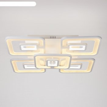 Люстра с пду 7505 230вт led rgb 2700-6400к, диммир., белый 60х55х12см