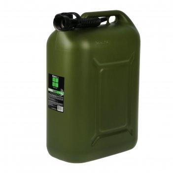 Канистра гсм, 25 л, пластиковая, усиленная, зеленая