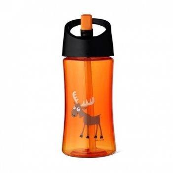 Детская бутылка для воды carl oscar moose 0.35л оранжевая
