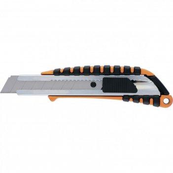 Нож sparta 78982, выдвижное лезвие, метал. 2к корпус, 18 мм