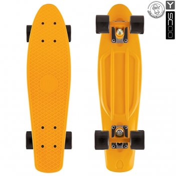 401-o скейтборд y-scoo fishskateboard 22 винил 56,6х15 с сумкой oran