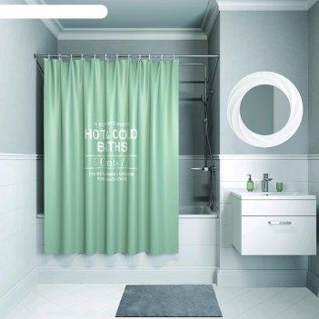 Штора для ванной комнаты iddis b31p218i11, 200x180 см, полиэстер