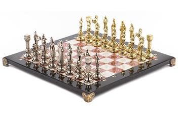 Шахматы ренесанс доска 360х360 мм мрамор креноид металл