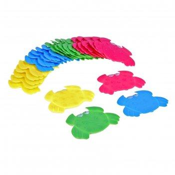 Набор мини-ковриков для ванны «краб», 9x12 см, 6 шт, цвет микс