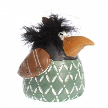 Фигурка декоративная ворона, l8 w11 h11 см