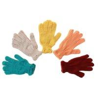 Перчатки вязанные одинарные цветные с13 размер  16, микс