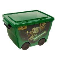Ящик для игрушек звездные войны зеленый м 2550-з