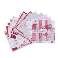 Набор бумаги для скрапбукинга  me to you это-моя любвоь 12 лист 15.5 x 15.