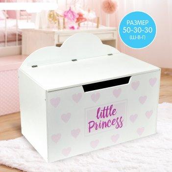 Контейнер-сундук с крышкой little princess