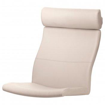 Подушка-сиденье на кресло, глосе робуст светло-бежевый поэнг