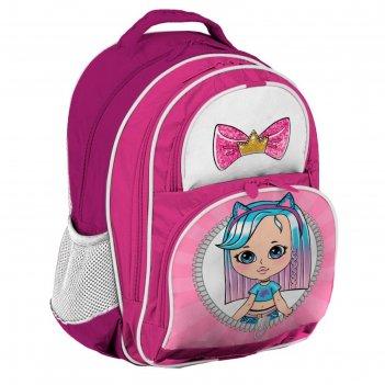 Рюкзак школьный с эргономичной спинкой, calligrata, 36 х 23 х 13, «девочка