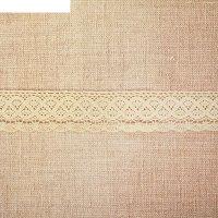 Кружево вязаное двойная коса, ширина 4,5 см, 15 м, цвет бежевый
