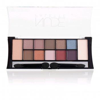 Тени для век tf nude pallette eyeshadow 12 оттенков, тон 02c coloured nude