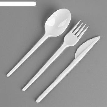 Набор одноразовой посуды «вилка, ложка, нож»
