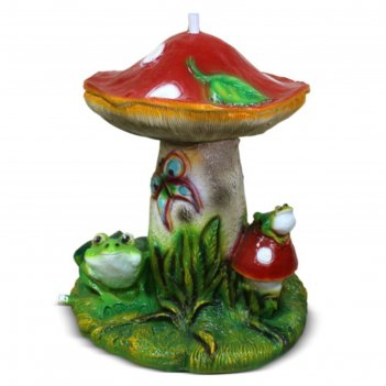 Поливалка-ороситель гриб с лягушками