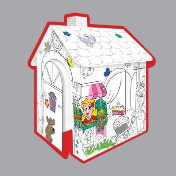 10721 игровой картонный домик-раскраска, moсhtoys