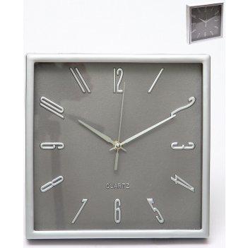 Часы настенные квадратные home art 25,3x25,3 см