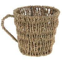 Кашпо плетеное чашка 18*14*13 см
