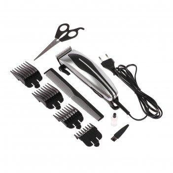 Машинка для стрижки волос luazon lst-07, 15вт, шнур 1,8м, насадки - 3, 6,1
