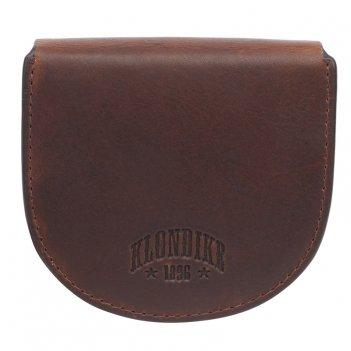 Монетница klondike dawson, натуральная кожа в коричневом цвете, 8,5 х 2 х