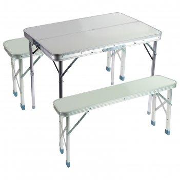 Набор мебели турист, складной, стол 60 х 90 х 69 см, 2 скамейки 87 х 25 х